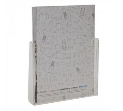 A4 clear acrylic brochure holder - Vertical