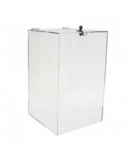E-256 URN - Urna da banco in plexiglass trasparente - Misure: 30x30x H 50 cm.