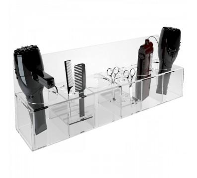 Clear acrylic hair stylist tools organiser