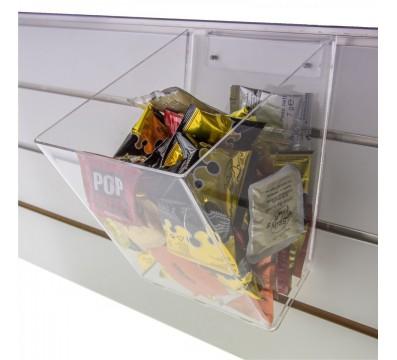 E-261 POC-A - Contenitore multiuso in plexiglass trasparente per pannelli dogati - Misure: 20 x 25 x H 26 cm
