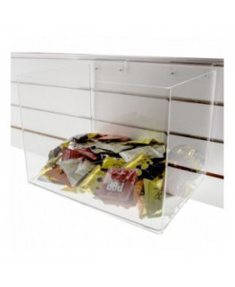 Clear Acrylic slatwall multipurpose box