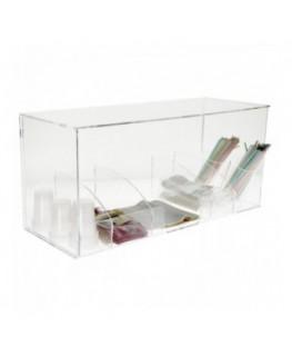 E-263 POT - Espositore multiuso in plexiglass trasparente - Misure: 67 x 26 x H 31 cm
