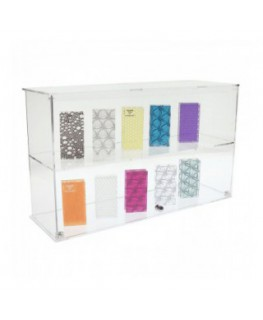 Clear acrylic countertop display case – 2 Compartments