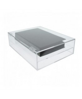 Clear Acrylic display case with 5 closed sides and an upper lid