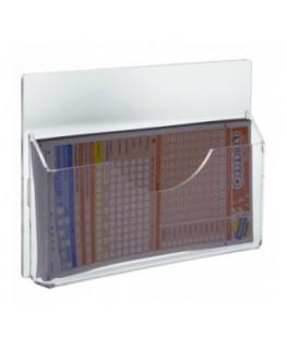 E-277 EPS - Espositore schedine da parete in plexiglass trasparente a 1 tasca - Misure: 23 x 3 x H15 cm