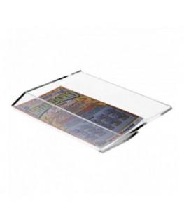 E-287 EGV-C - Espositore schedine e gratta e vinci da cassetto per raccolta schedine vinte - Misure: 12 x 20x H4 cm
