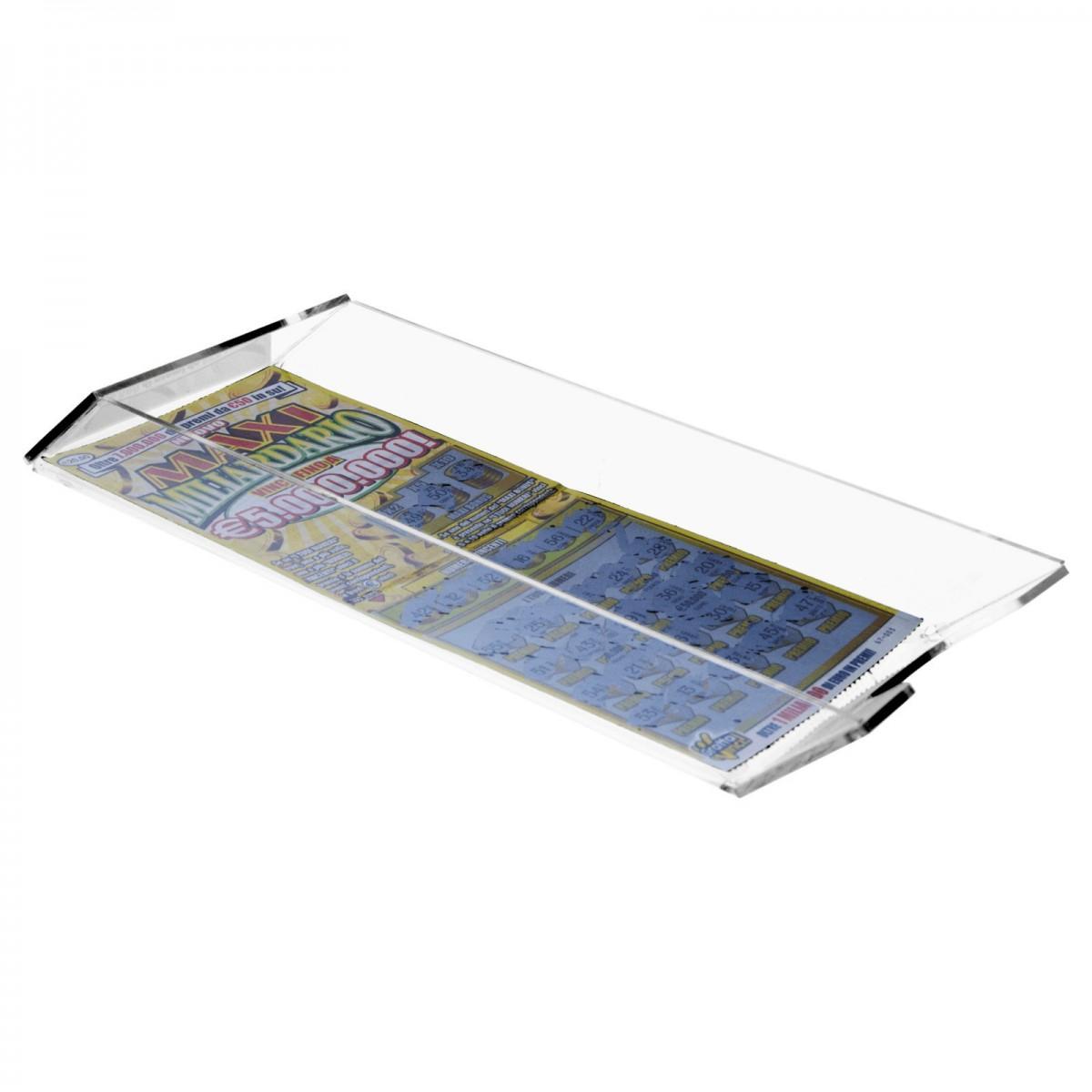 E-287 EGV-D - Espositore schedine e gratta e vinci da cassetto per raccolta schedine vinte - Misure: 12 x 25x H4 cm