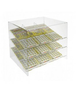 Acrylic countertop scratch and win card holder display –...