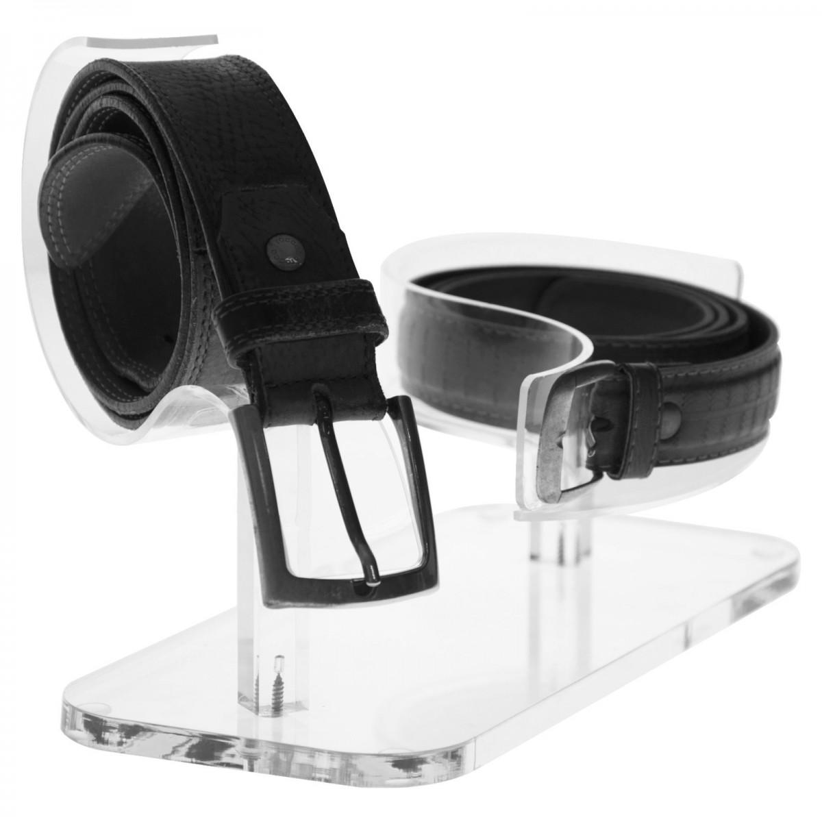 E-301 EPC - Porta cintura in plexiglass trasparente a 2 postazioni