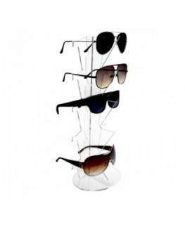 E-330 EPO - Porta occhiali in plexiglass trasparente a 5 postazioni verticali