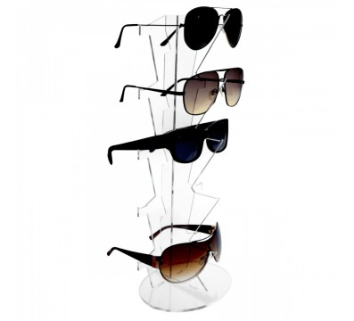 Clear acrylic 5-Tier eyeglass/sunglass display rack – Vertical tier Dimensions: 6.3''Wx4.72''Dx15.35''T
