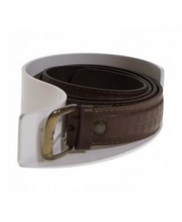 E-338 PCI-B - Porta cintura in plexiglass bianco con base