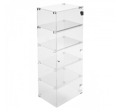 Clear Acrylic display case - 5 shelves Dimensions: 15.75''Wx11.81''Dx39.37''T