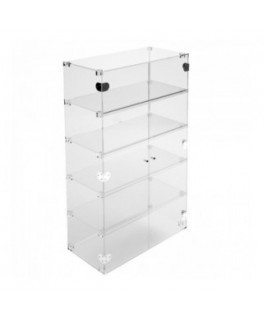 Clear Acrylic display case - 5 shelves Dimensions: 23.62''Wx11.81''Dx39.37''T