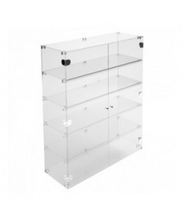 Clear Acrylic display case - 5 shelves Dimensions: 31.5''Wx11.81''Dx39.37''T