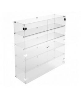 E-354 VET - Ampia vetrina espositiva in plexiglass trasparente a 5 ripiani - Misure: 100 x 30 x h100 cm