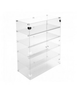 Clear Acrylic display case - 5 shelves Dimensions: 23.62''Wx15.75''Dx39.37''T