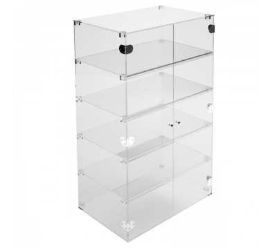 Clear Acrylic display case - 5 shelves Dimensions: 31.5''Wx15.75''Dx39.37''T