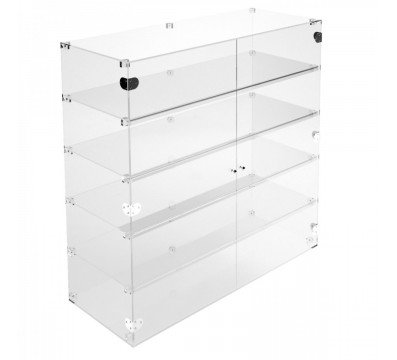 Clear Acrylic display case - 5 shelves Dimensions: 39.37''Wx15.75''Dx39.37''T