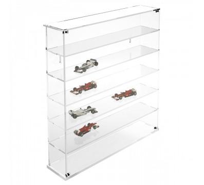 Bacheca/Vetrina in plexiglass trasparente scala 1:43 a 6 ripiani - Misure totali: 53x12x h55 cm