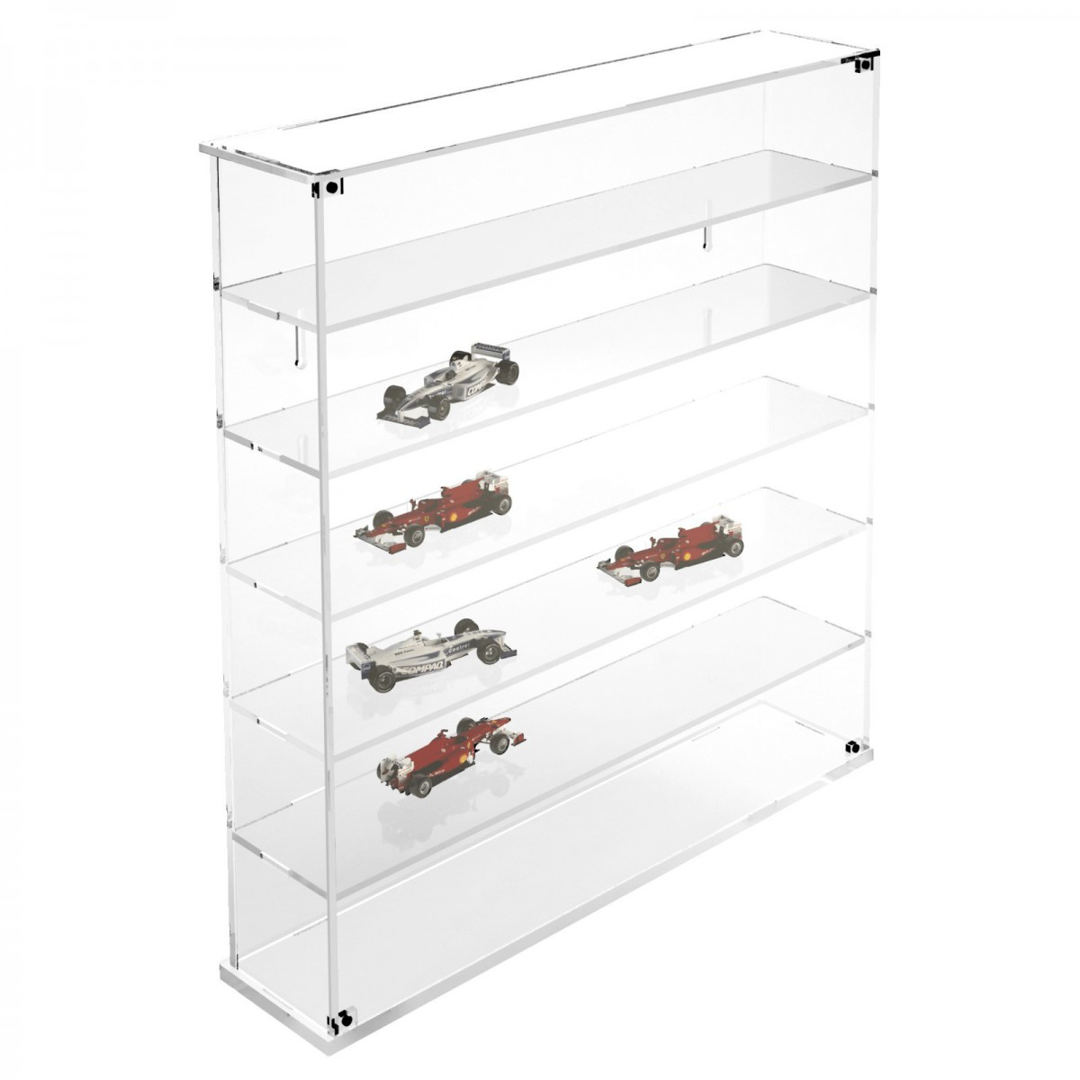 E-364 BAC - Bacheca/Vetrina in plexiglass trasparente scala 1:43 a 6 ripiani - Misure totali: 53x12x h55 cm