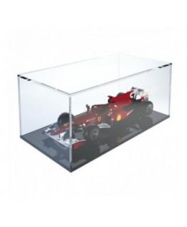 E-374 TEC - Teca espositiva in plexiglass trasparente scala 1:18 con base nera - Misure totali: 34x18x h14 cm