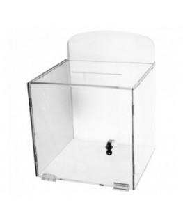 E-381 URN - Urna da parete in plexiglass trasparente - Misure: 30x30x H 30 cm