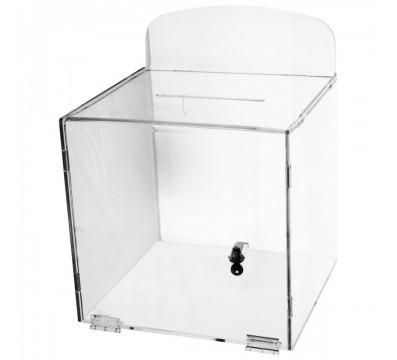 Urna da parete in plexiglass trasparente - Misure: 30x30x H 30 cm