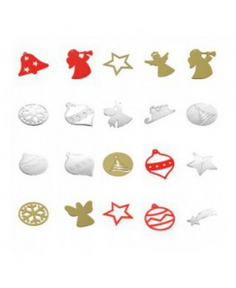 Clear and coloured acrylic Christmas decorations