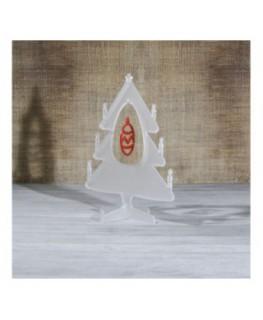E-449 ALS - Alberello natalizio in plexiglass satinato adatto per decorare il tuo ambiente