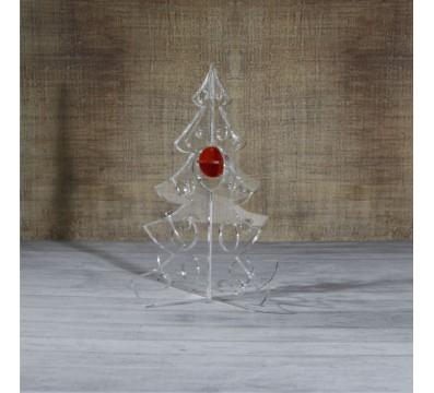 Alberello natalizio in plexiglass trasparente adatto per decorare il tuo ambiente