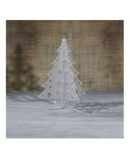 E-457 ALS - Alberello natalizio in plexiglass satinato adatto per decorare il tuo ambiente - Misura: 13x13xh16 cm