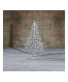 E-458 ALT - Alberello natalizio in plexiglass trasparente adatto per decorare il tuo ambiente - Misura: 13x13xh16 cm