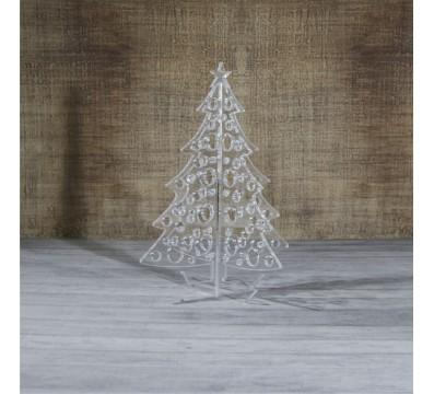 Weihnachtsbaum aus Plexiglas satiniert