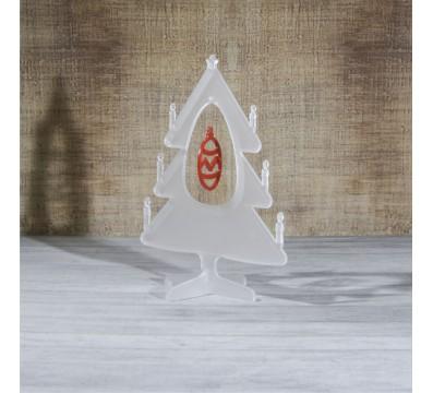 E-459 ALS - Alberello natalizio in plexiglass satinato adatto per decorare il tuo ambiente - Misura: 13x13xh16 cm