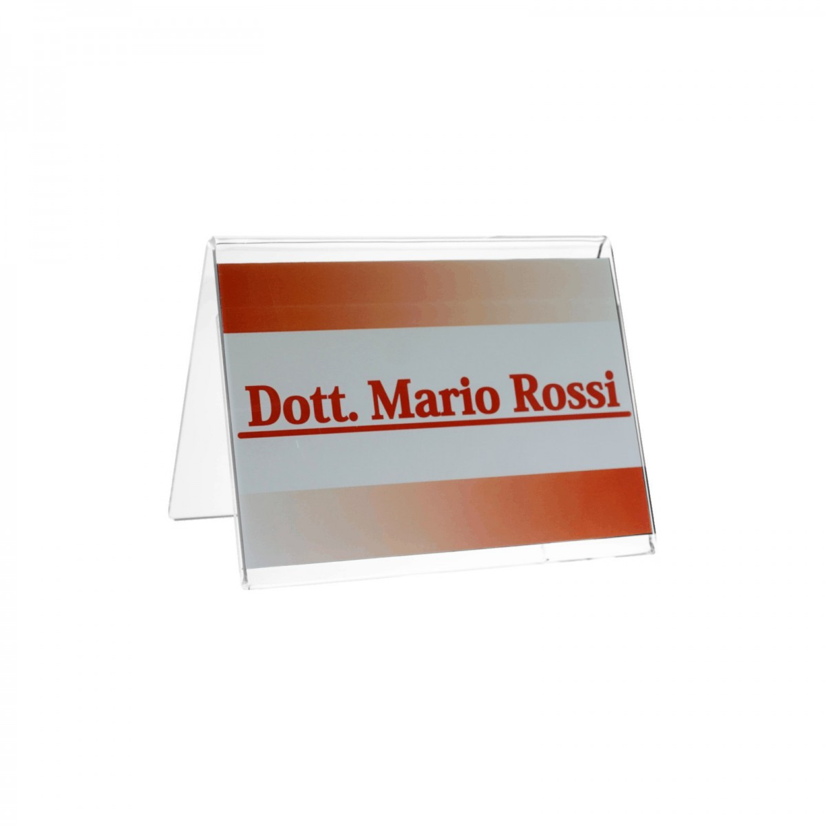 Clear Acrylic name badge