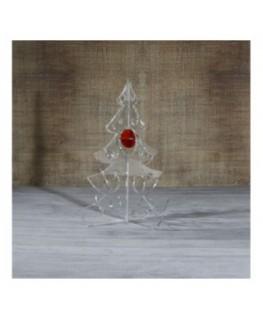 E-462 ALT - Alberello natalizio in plexiglass trasparente adatto per decorare il tuo ambiente - Misura: 13x13xh16 cm