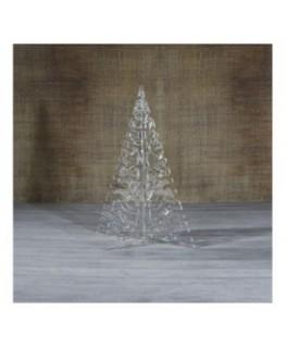 E-464 ALT - Alberello natalizio in plexiglass trasparente adatto per decorare il tuo ambiente - Misura: 13x13xh16 cm
