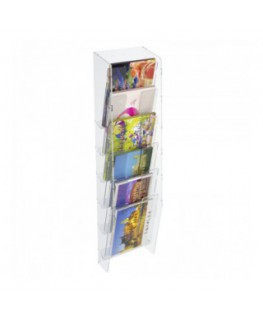 6-tier clear acrylic card ladder for wall