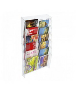 12-tier clear acrylic card ladder for wall