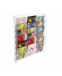 Espositore porta cartoline da parete in plexiglass...