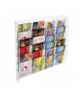 24-tier clear acrylic card ladder for wall