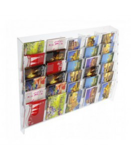 30-tier clear acrylic card ladder for wall