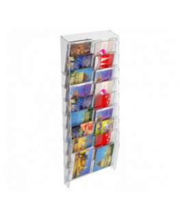 18-tier clear acrylic card ladder for wall