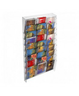 27-tier clear acrylic card ladder for wall