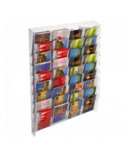 36-tier clear acrylic card ladder for wall