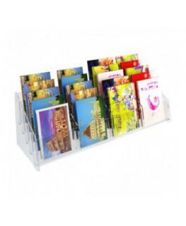 E-400 EPC-D - Espositore porta cartoline da banco in plexiglass trasparente a 20 tasche