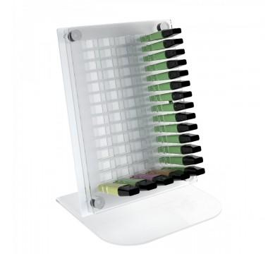 E-406 EPE-A - Espositore porta evidenziatori da banco in plexiglass trasparente e colorato da 70 postazioni
