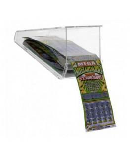 E-408 EGV-A - Espositore gratta e vinci da soffitto in plexiglass trasparente a 1 scomparto lato rivenditore