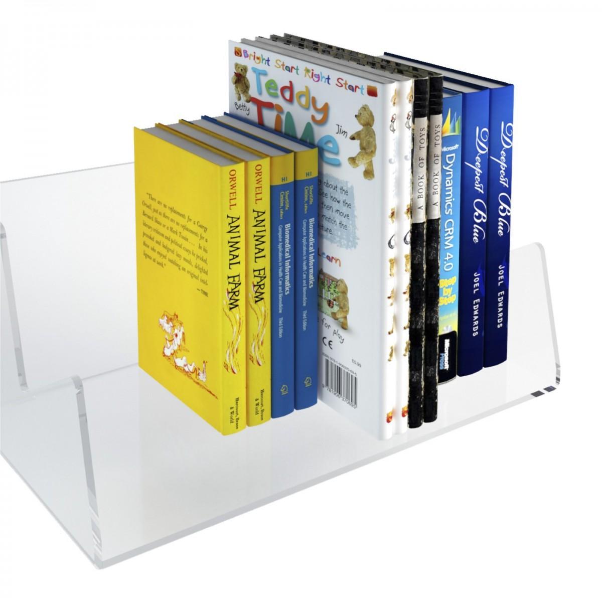 E-429 ELB-A - Mensola porta libri in plexiglass trasparente